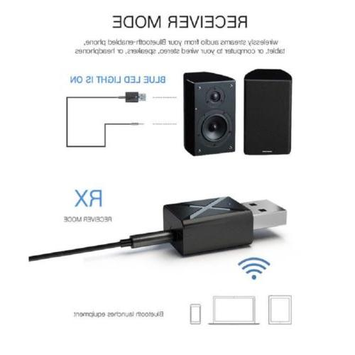 USB Bluetooth mm AUX Music Receiver Adapter Home