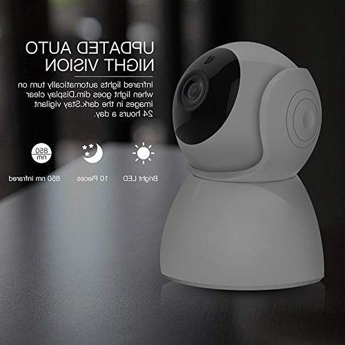 MCBOSON WiFi Pan 1080P Security Surveillance Camera Pet Motion Two Voice APP