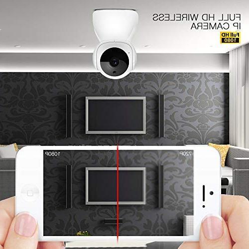 MCBOSON WiFi 1080P HD Home Security Surveillance Pet Motion Detection Two Voice APP