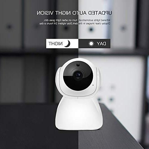 MCBOSON WiFi Pan 1080P Security Surveillance Camera Pet Vision Motion Detection Wide Two APP