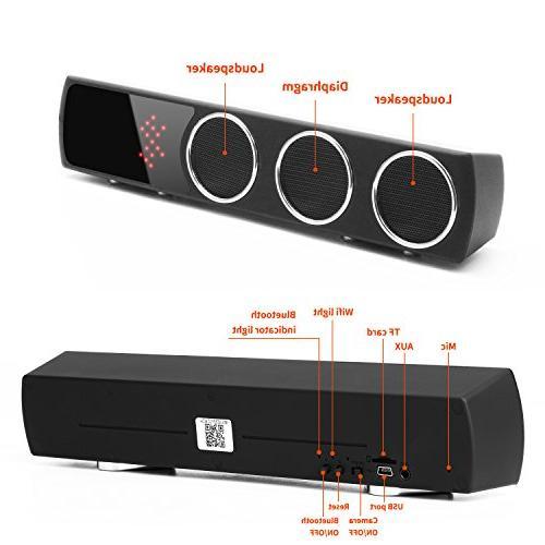WiFi Bluetooth Speaker - Mini Camera 1080p Wide Hidden Spy for Home