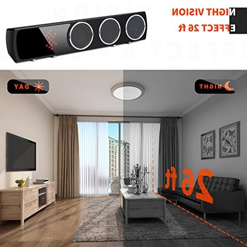 WiFi Speaker Mini Spy Camera Degrees Wide - Hidden Spy Motion for Home