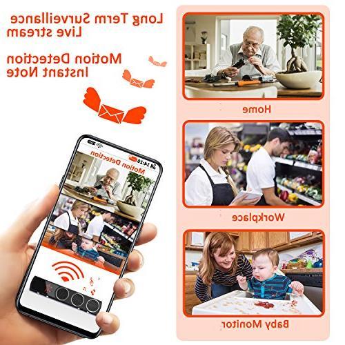 WiFi Camera Bluetooth Camera 1080p Wide Spy Camera