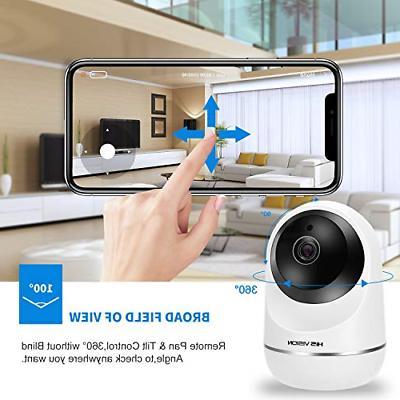 HISVISION Wireless 1080P IP Camera, WiFi Surveillance HD SD
