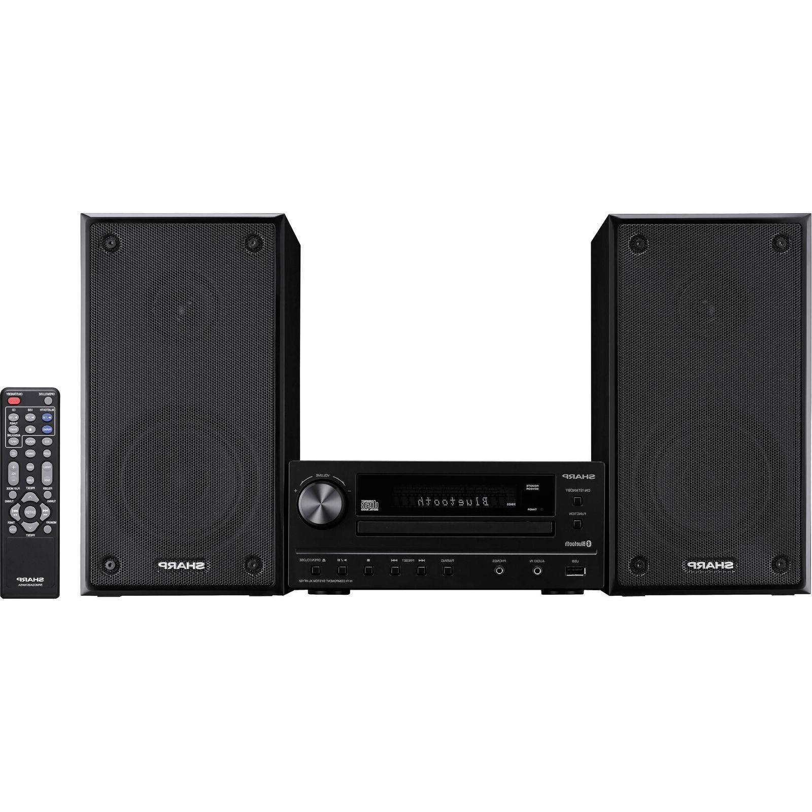 Sharp XLHF102B Hi-Fi Component Home Stereo Speaker System wi
