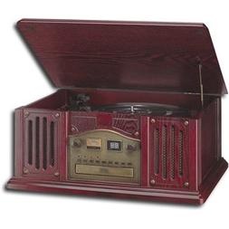 Leetac TAP-807 Nostaligia Wooden Music Center with Turntable