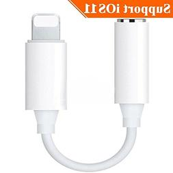 Lightning to 3.5mm Headphone Jack Adapter Dongle for iPhone