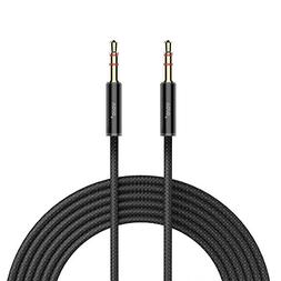 VOJO Long Aux Cable 10ft Nylon 3.5mm Auxiliary Audio Cord St