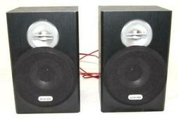 Lot of 2 Jensen Home Stereo Speakers Red Black Wires Unteste