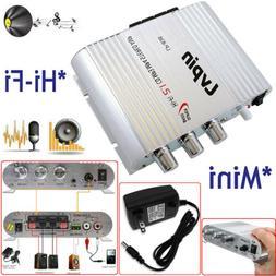 Lvpin Mini Hi-Fi Stereo Amplifier Amp Radio MP3 200W 12V For