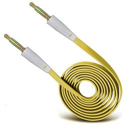 ONX3®  High Quality 3.5mm Male To Male Jack Flat Cable AUX