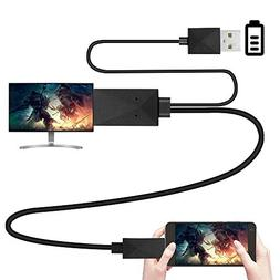 Ankoe 6.5 Feet 11 Pin Micro USB to HDMI Adapter Cable 1080P