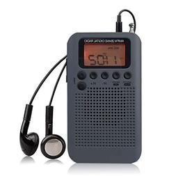 Mini AM FM Radio, Portable Stereo Radio With Alarm Clock Poc