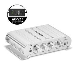 Mini HiFi Stereo 2.1 Channel Audio Amplifier for Home/Car/Ma