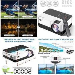 """Mini Projector 2800 Lumens LED Portable 180"""" Support 1080P H"""
