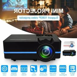 Mini Projector HD 1080P Movie Video HIFI Stereo Projectors H