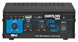 Pyle Mini 2x40 Watt Stereo Power Amplifier w/ USB Input