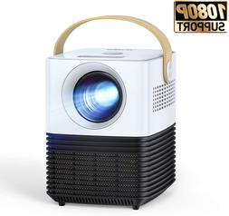"Mini Video Projector LCD 1080P Full HD Supported 120"" Home M"