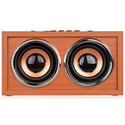 DYJ Mini Wood Bluetooth 4.0 Speaker,10W Output Power with T