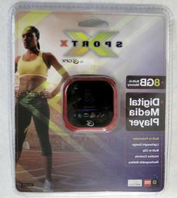 GPX MP3/4, 8GB, w/ Pedometer, Rechargeable, RED, Brand New,