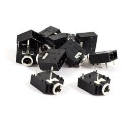 uxcell 10 Pcs MP4 Earphone 3 Poles 3.5mm Stereo Jack Socket