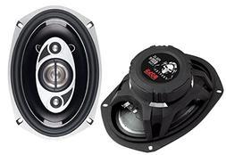 BOSS Audio P69.4C 800 Watt , 6 x 9 Inch, Full Range, 4 Way C