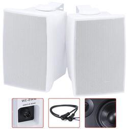 """Pair 3.25"""" 2 Way Waterproof Indoor Outdoor Stereo Audio Home"""
