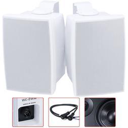 """Pair 5.25"""" 2Way Waterproof Stereo Audio Speaker 160W Outdoor"""