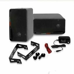 Pyle 3.5-inch Pair Waterproof Bluetooth Speakers, Marine Aud