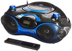AXESS PB2704 Portable MP3/CD Boombox with AM/FM Stereo, USB,
