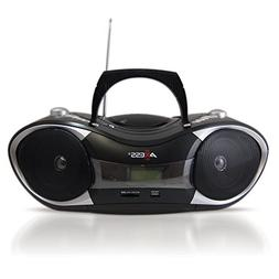 AXESS PB2707 Portable MP3/CD Boombox with AM/FM Stereo, USB,