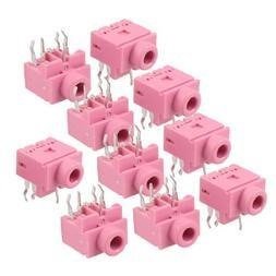 10 Pcs 5 Pin PCB Mount Female 3.5mm Stereo Jack Socket Conne