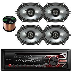 Pioneer DEH150MP Single Din Car Receiver  Bundle Combo With