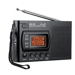 DreamSky Portable AM/FM Radio Alarm Clock, Clear Loudspeaker
