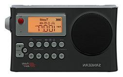 Sangean Portable Digital AM/FM Weather Alert Alarm Clock Rad