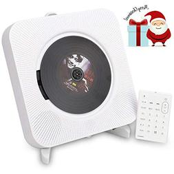 Portable CD Player with Remote Control, ESoku Bluetooth Wall