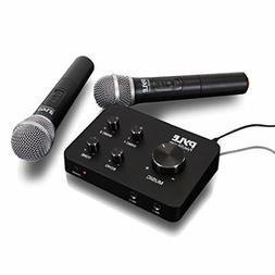 Pyle Portable Home Theater Karaoke Microphone Mixer System S