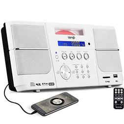 CD Player Portable, DPNAO Boombox with USB Port Headphone Ja