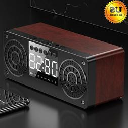 Portable Wooden Bluetooth Super Bass Stereo Sound Wireless H