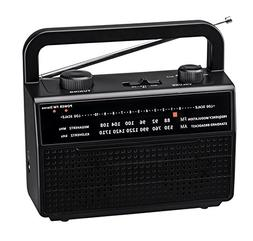 PR-157 AM/FM 2 Band Portable Radio AC Operated or Operated b