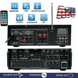 2000W bluetooth Stereo Audio Power Amplifier 2Ch AMP FM Radi
