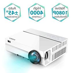 Projector, ABOX A6 Portable Home Theater 1080p Video Project