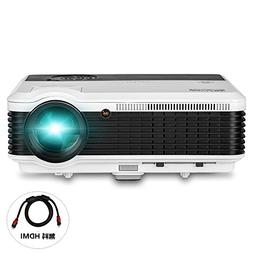 LED Video Projector Portable LCD Projector 3600 Lumens Multi