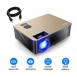 4000 Lumens Projector, HD LCD Multimedia Video Projector Up