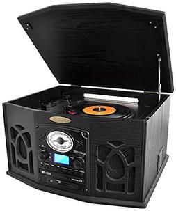 PTCDS7UBTB Record/CD/Cassette Turntable