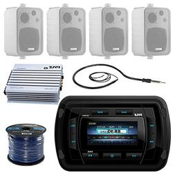 Pyle PATVR14 MP3/MP5 Bluetooth Marine Boat Yacht Stereo Rece