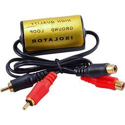 RCA Audio Noise Filter Suppressor Ground Loop Isolator for C