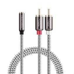 3.5mm to RCA Cable,CableCreation 10 feet 3.5mm Female to 2RC