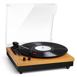 Record Player - BC Master Turntable for Vinyl Records, 3-Spe