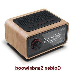 Retro Wooden Bluetooth Speaker,Portable Wireless Multifuncti